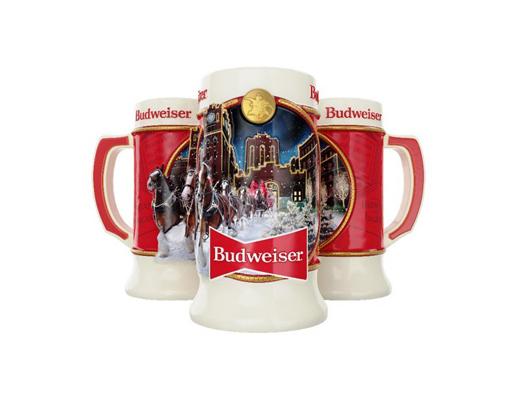 Anheuser Busch 2020 Christmas Stein Budweiser Holiday Christmas Steins Stein