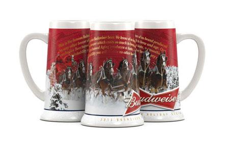 Budweiser Christmas Stein 2020 Budweiser Holiday Christmas Steins Stein