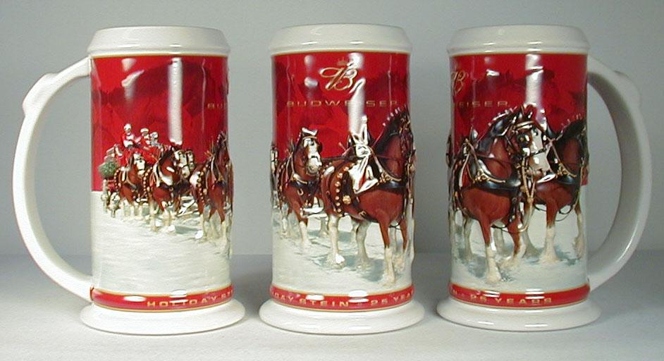 2004budholiday100jpg 123651 bytes - Budweiser Christmas Steins